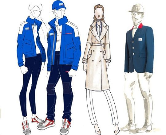 Prada Team Italy's sailing Olympic team, Salvatore Ferragamo for San Marino & Hermès for the French equestrian team