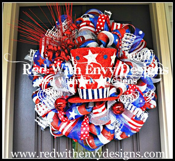 Hey, I found this really awesome Etsy listing at https://www.etsy.com/listing/151636284/lighted-fourth-of-july-wreath-4th-of