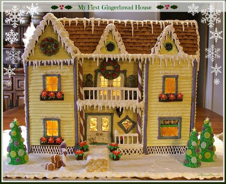 My First Gingerbread House (Recipes, Tips and Instructions) using my Best Soft Gingerbread Cookie Recipe