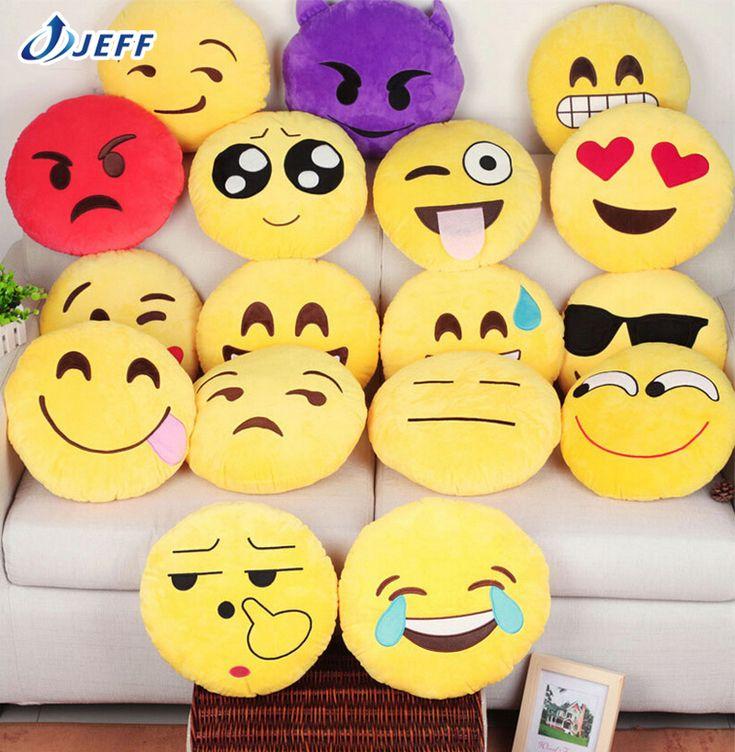 Nouvelle 7 Styles souple coussin Emoji émoticônes Smiley jaune coussin rond peluche peluche poupée de noël cadeau pendentif belle jouets dans Coussin de Maison & Jardin sur AliExpress.com | Alibaba Group