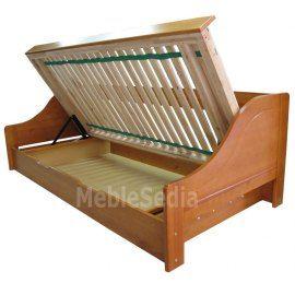 Łóżko drewniane z pojemnikiem Maro