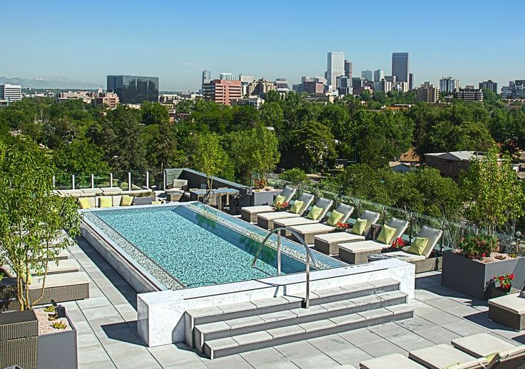 102 best exterior of new home images on pinterest dry for Rooftop swimming pool