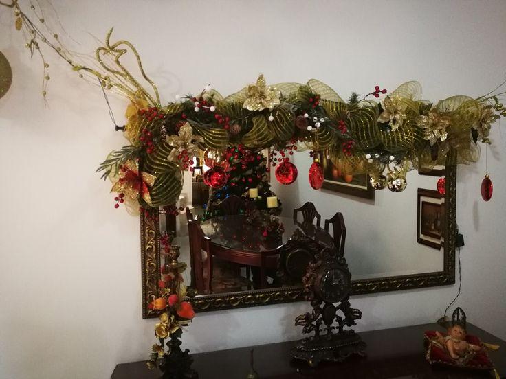 Decoración Navidad Espejo 2.017