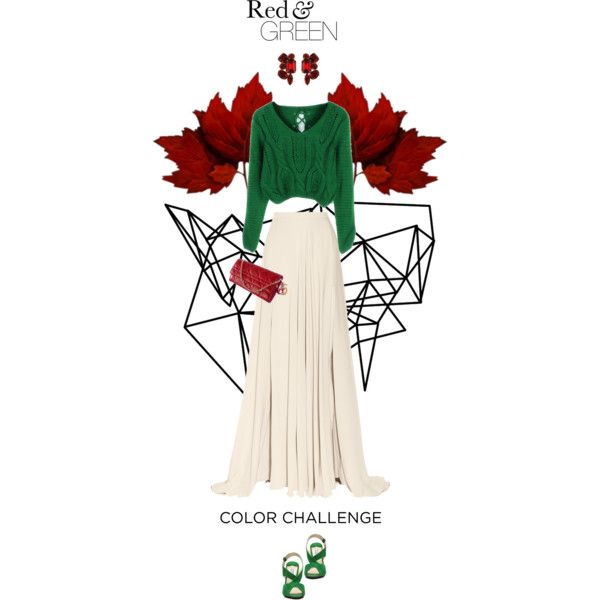 """xmas green"" by essenceve on Polyvore"