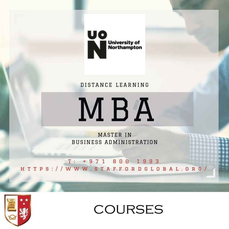 | University of Northampton: Distance Learning MBA | Obtaining a master of business management (MBA) from a university, such as The University of Northampton, can surely boost your career.  The Distance Learning MBA is a flexible programme that is specifically designed for you to be able to balance your study between your commitments at work and home.  | Mode of study: Distance Learning with Optional Weekend workshops in the UAE Duration : 18 months |