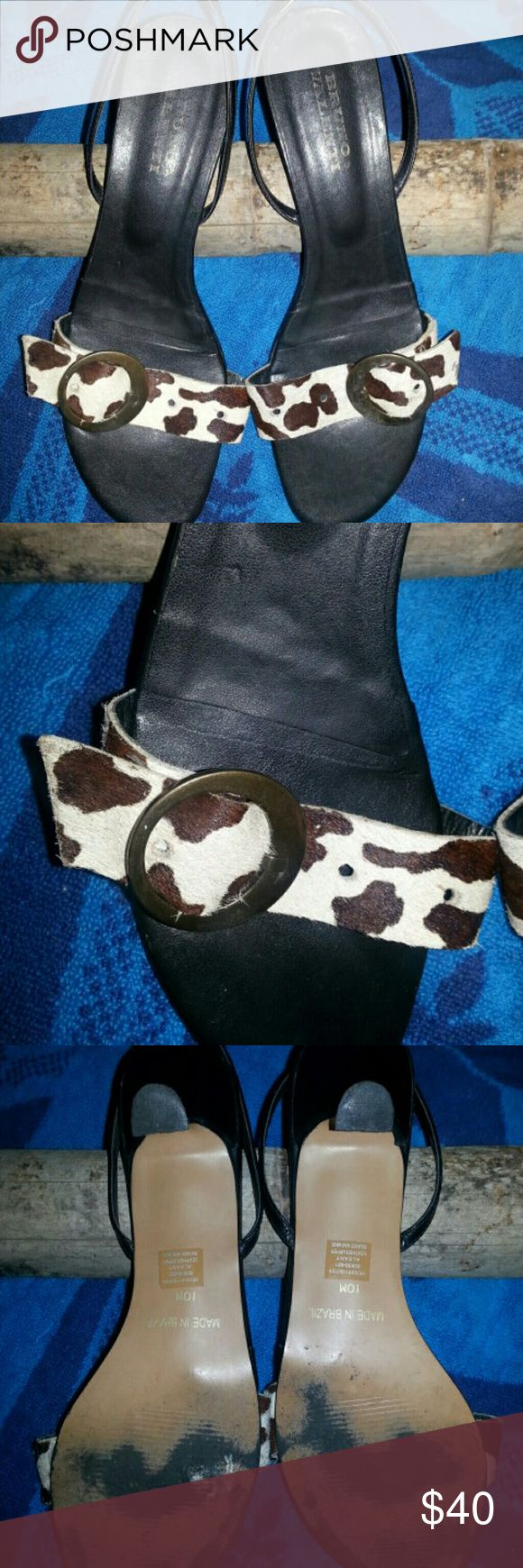 Bruno Valenti Shoes Cow hIde strap sling back strap heels Bruno valinti Shoes Heels