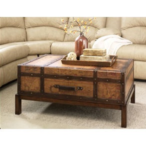 Seen lots of trunk coffee tables but none with a shallow trunk like this. Great idea.