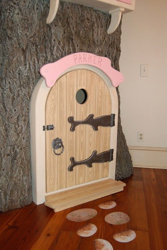 Fairy Bedroom Door Design-Cartoons Nuances Kids room For our kids