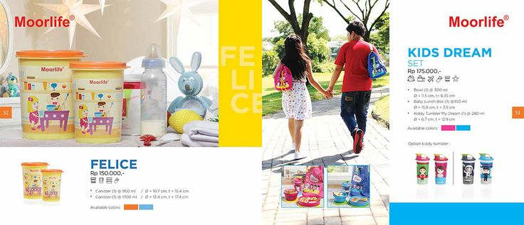 Moorlife Felice canister (150.000) & Moorlife Kids dream set (175.000) Harga diatas belum termasuk discount