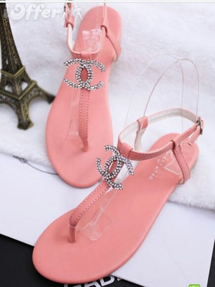 These look just like the juicy sandals, juicy just did more highlighter pink  Repin & Follow my pins for a FOLLOWBACK!