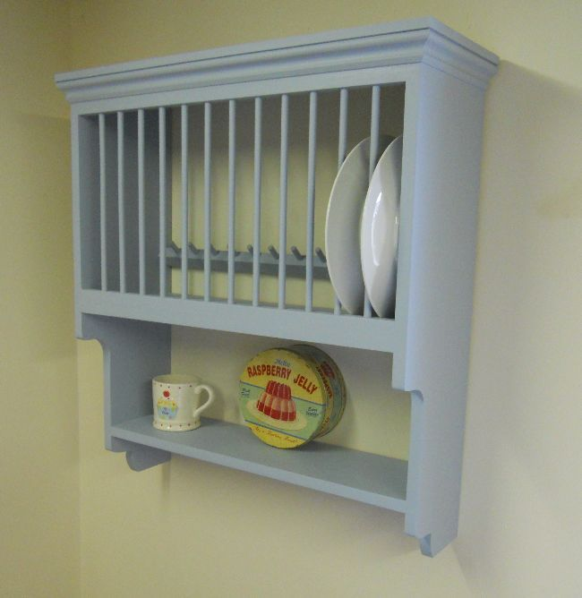 Pine Storage Solutions  Hand Made Pine Plateracks  Painted Pine Plate Rack with Shelf & 38 best PLATE RACKS images on Pinterest | Plate racks Dish racks ...