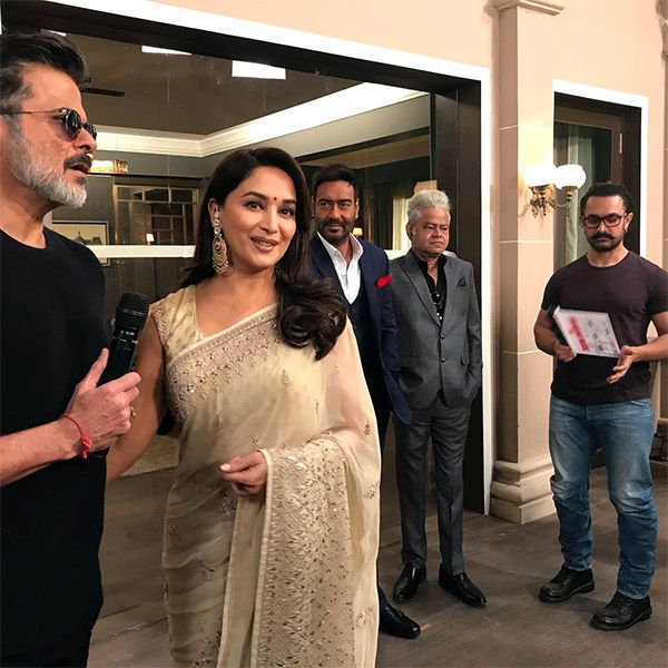 [Photos] Aamir, Anil and Ajay reunite with Madhuri Dixit for Total Dhamaal and make us miss the 90s