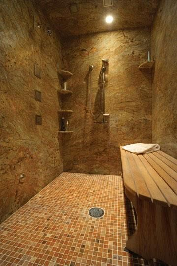 This also reminds me of Hawaii.  I'd love to have a big awesome shower with multiple shower heads.