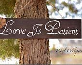 La carità è paziente cartello in legno, decorazioni per la casa Primitivo, il legno primitivo rustico, legno shabby chic, arredamento rustico casa, shabby chic matrimonio