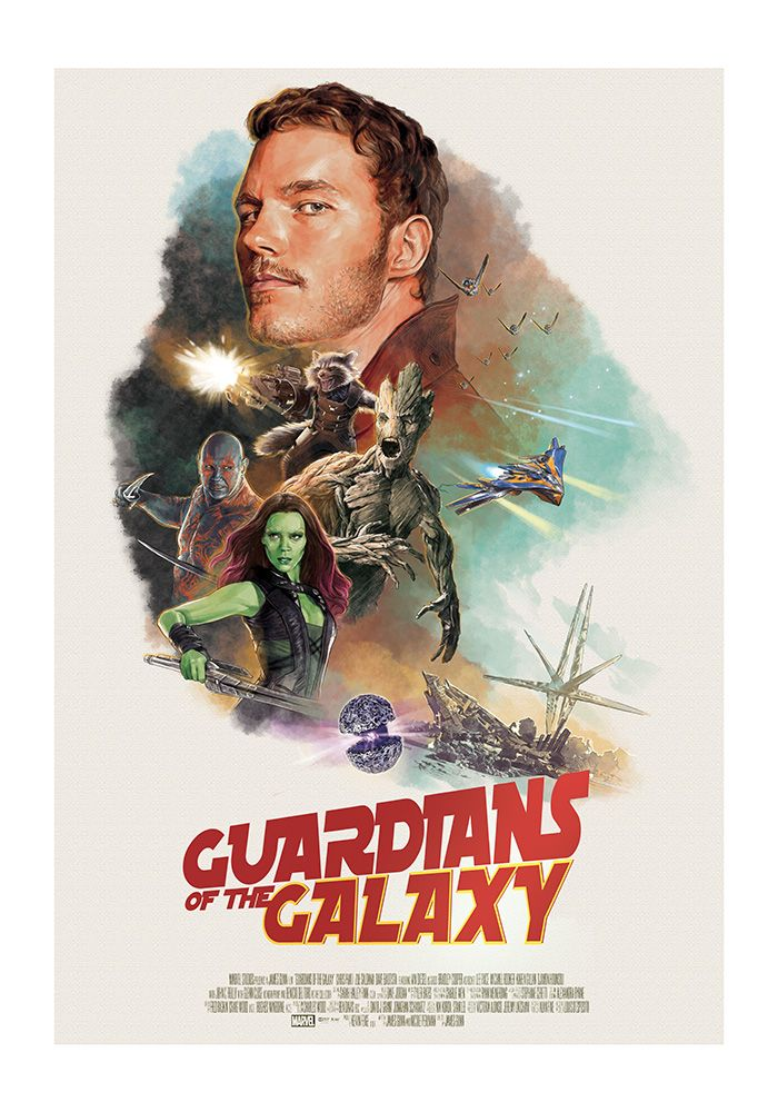 Guardians of the Galaxy Poster - Created by Hans Woody