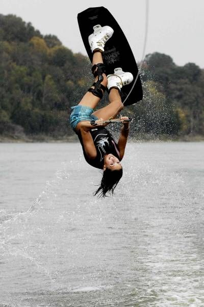 Carolinas favorite sport is wake boarding. she has been doing wake boarding since she was 6 years old and since then she has done it every time she can.