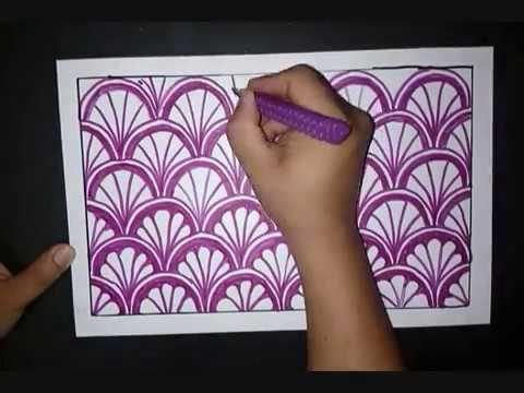 Belajar Menggambar Batik Motif KERANG Sederhana - YouTube ...