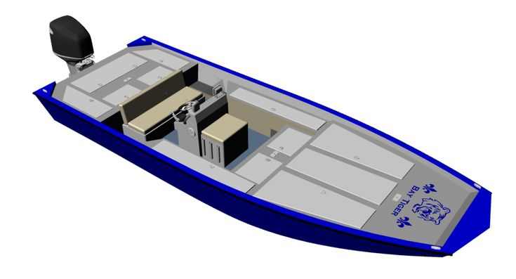 New Aluminum Bay Boat Plans with many of the comforts of a large bass boat carefully blended with bay boat technology, to create the ultimate 24′ fishing machine!
