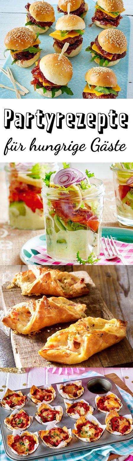 Die besten Partyrezepte für deine Feier. Verwöhnen deine Gäste mit einem Buffet aus leckeren Häppchen, Suppen und Salaten.