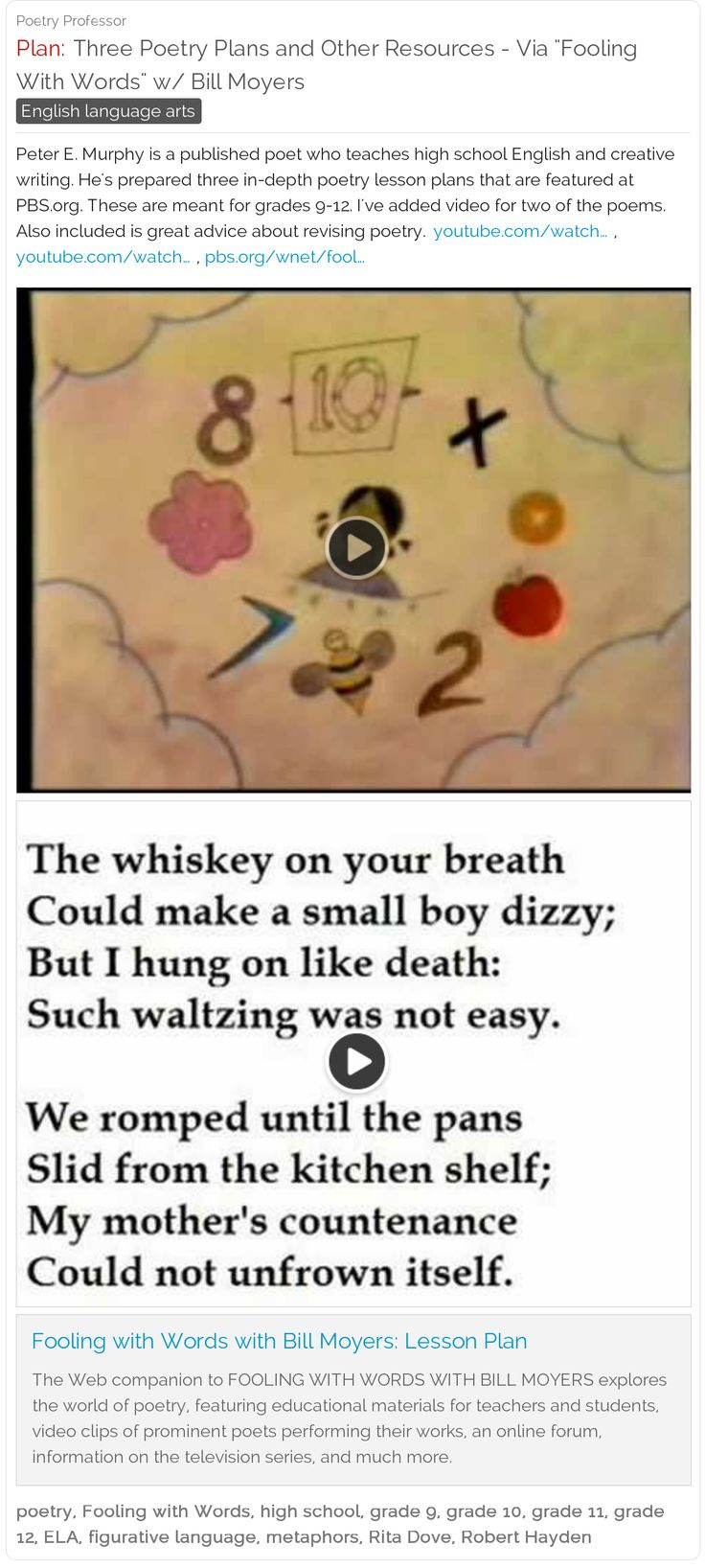 54 best Teaching Poetry - Schoolfy images on Pinterest ...