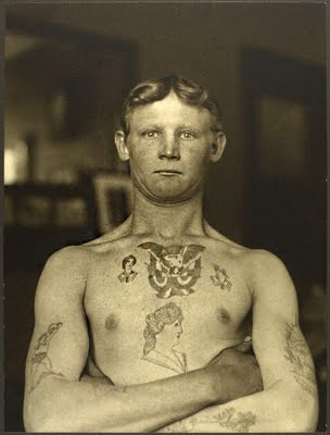 German Stowaway Immigrant, Ellis Island NY. 1909Photos, History, German Stowaway, New York, Public Libraries, Portraits, Tattoo, Old Photographers, Ellie Islands