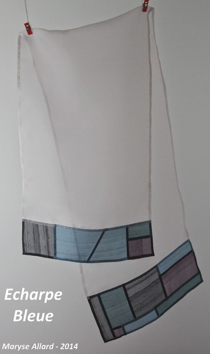 Maryse Allard - Pojagi: Créations - translucent panel with bottom borders