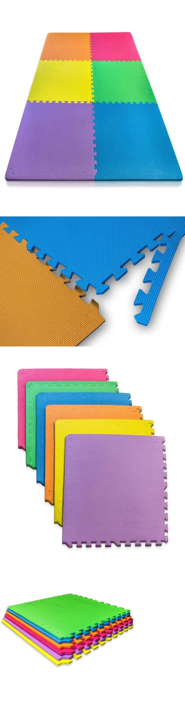Rubber mats ebay - Exercise Mats 44079 Rubber Gym Floor Mat 6 Pcs Colorful Flooring Exercise Garage Workout Fitness
