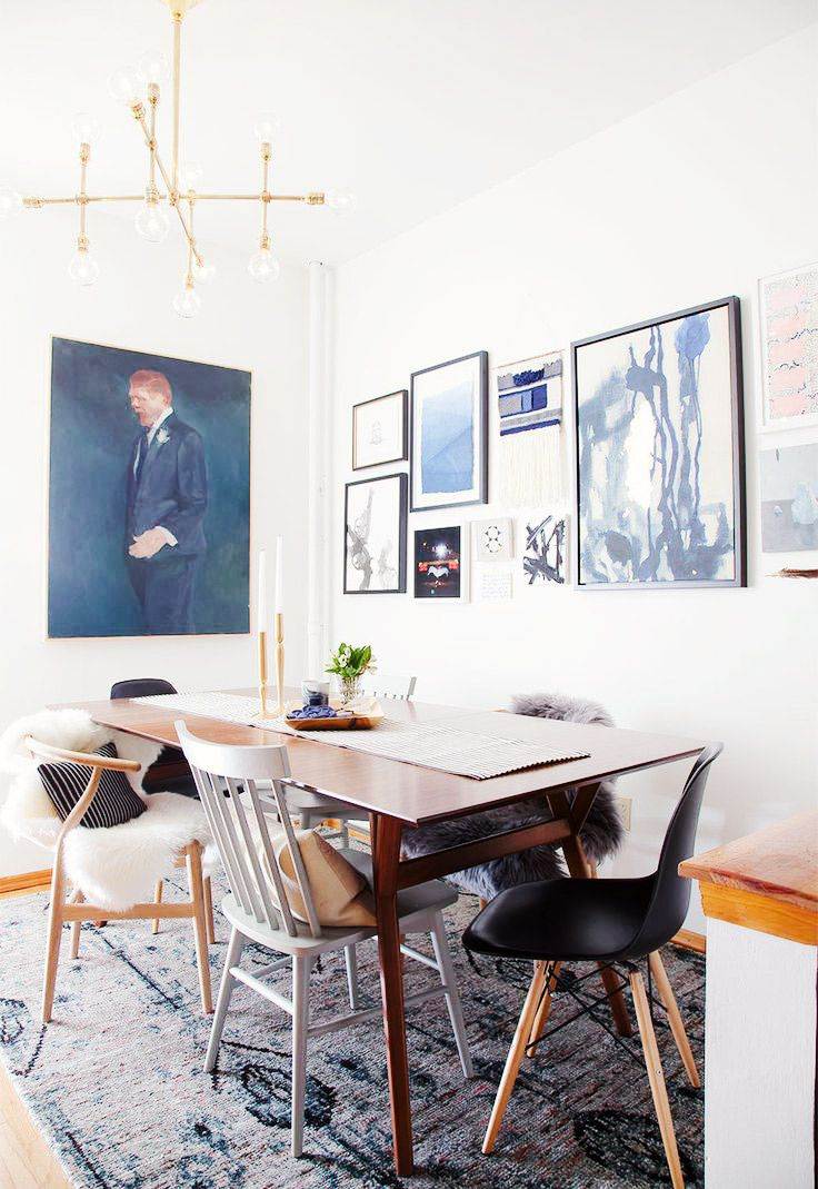 Get The Look An Eclectic Indigo Dining Room Via MyDomaine