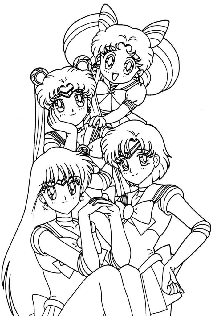 Anime Coloring Pages Sailor moon coloring pages, Moon