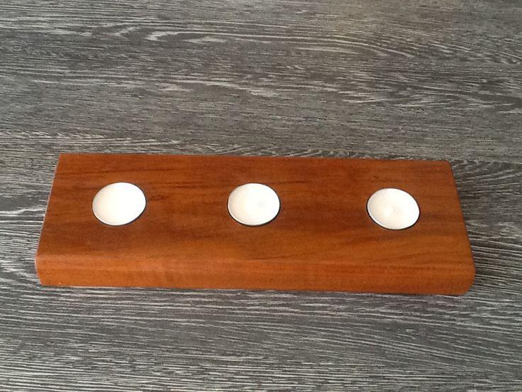 Teak houten waxinelichtjes houder