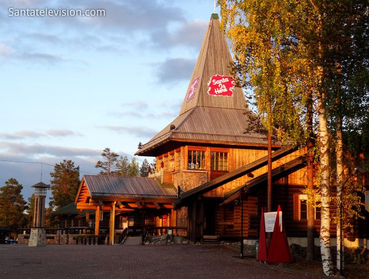 Santa Claus Village in Rovaniemi in Finland with autumne colors