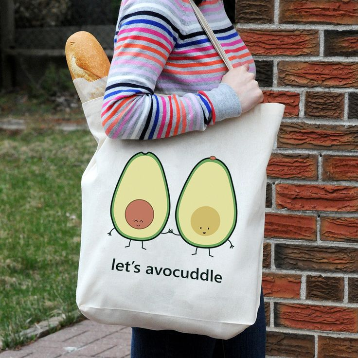 let's avocuddle tote bag by queeniescards.com