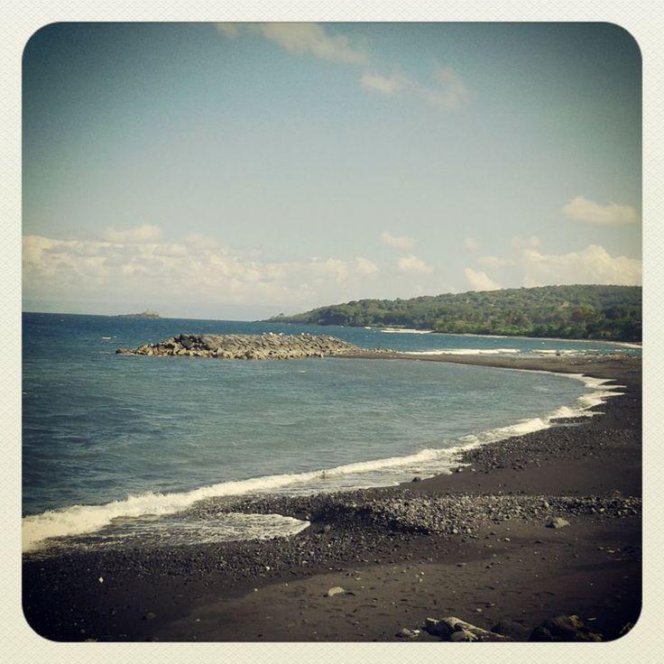 Black Sand Beach Bali, Indonesia