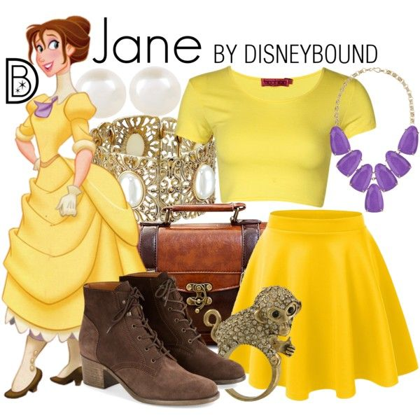 Jane by leslieakay on Polyvore featuring Boohoo, Monsoon, Kendra Scott, 1928, Accessorize, Miso, disney, disneybound and disneycharacter