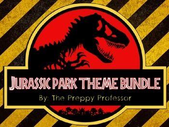 Jurassic Park Classroom Theme Bundle Subject Labels
