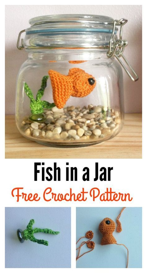 Fish amigurumi free patterns in a jar crochet fish for Fish in a jar