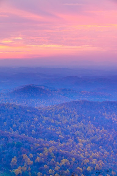 Blue Ridge Mountains Sunset