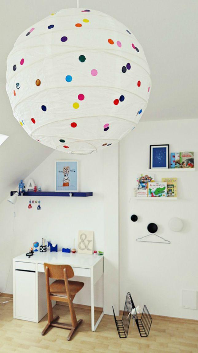 Dotty Lantern - simply add stickers to an IKEA shade!