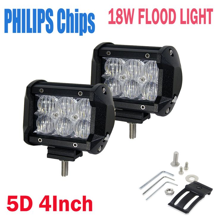 "$45.98 (Buy here: https://alitems.com/g/1e8d114494ebda23ff8b16525dc3e8/?i=5&ulp=https%3A%2F%2Fwww.aliexpress.com%2Fitem%2F2Pcs-Headlight-30W-4-Inch-5D-Lens-Cree-Chips-Flood-Spot-Beam-LED-Work-Light-Bar%2F32725216583.html ) 2Pcs Philips Chips 4""Inch 5D Lens 18W LED Work Light Bar With Included Off-road Driving Lights Auto& Moto External Car Lamps for just $45.98"