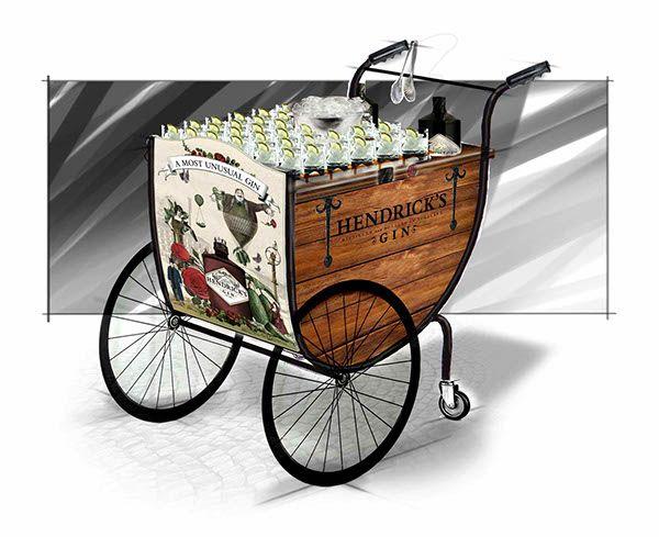 Hendrick Gin Sampling Trolley on Behance