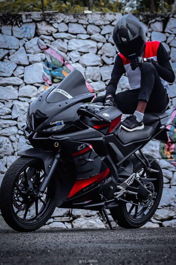 Modified Black Red Yamaha R15 V3 Modifiedx Bike Pic Yamaha Bikes Biker Photography