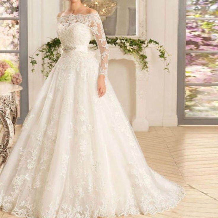 Vestido de Novia nuevo Vestido para Boda de Encaje Blanco Marfil Personalizado Talla 4-6-8-10-12-14-16-18+ | Ropa, calzado y accesorios, Ropa de boda y formal, Vestidos de novia | eBay!