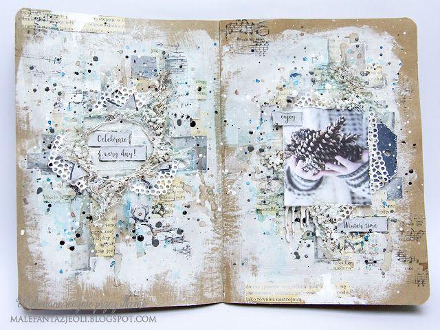 Blog Craft Passion: Wpis do Art journala / Art journal page