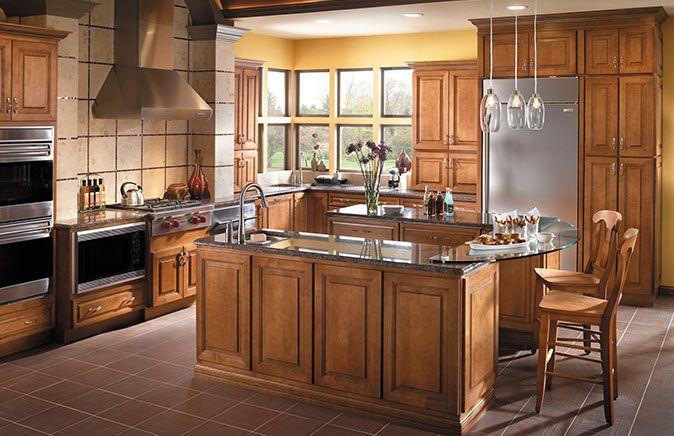 25 best kitchens light brown images on pinterest for Brookwood kitchen cabinets