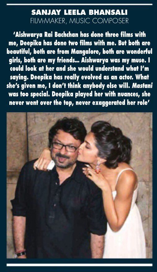 Sanjay Leela Bhansali talks about Deepika Padukone