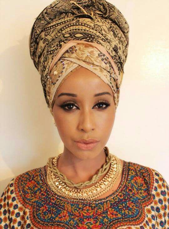 Lovely turban frame for a lovely face.