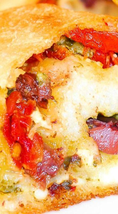 Feta Cheese, Olive and Sun-Dried Tomato Pesto Bread Appetizer