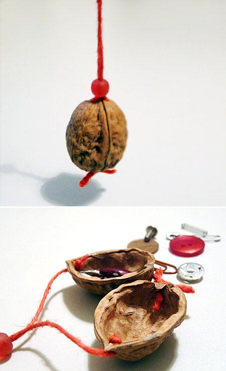 Walnut treasure box. Neat idea for any hollow halved thing.