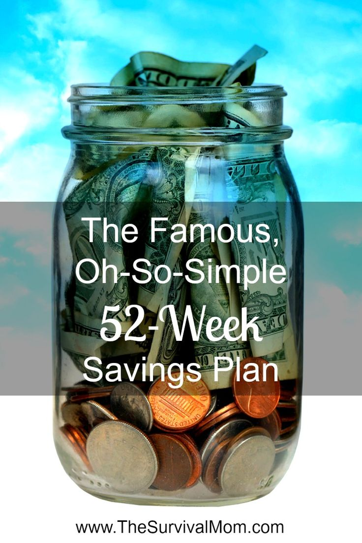 Give this super-easy 52-week savings plan a try! Start any time! | www.TheSurvivalMom.com
