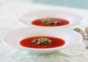 山形のだし 簡単冷製トマトスープ|レシピブログ 勇気凛りんさん 山形のだしの作り方もあります。